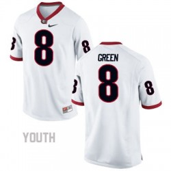 A.J. Green Georgia Bulldogs #8 NCAA Jersey - White - Youth