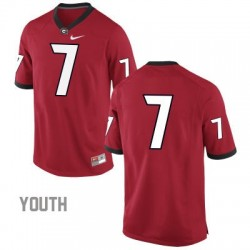 Georgia Bulldogs #7 (No Name) NCAA Jersey - Red - Youth