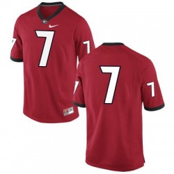 Georgia Bulldogs #7 (No Name) NCAA Jersey - Red