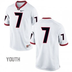 Georgia Bulldogs #7 (No Name) NCAA Jersey - White - Youth