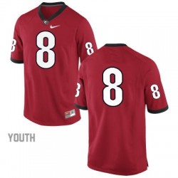 Georgia Bulldogs #8 (No Name) NCAA Jersey - Red - Youth