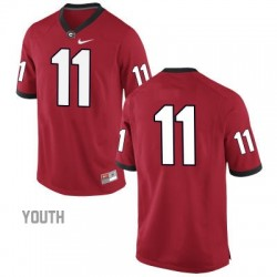 Greyson Lambert Georgia Bulldogs #11 (No Name) NCAA Jersey - Red - Youth