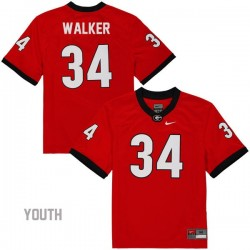 Herschel Walker Georgia Bulldogs #34 NCAA Jersey - Red - Youth
