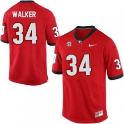 Herschel Walker Georgia Bulldogs #34 NCAA Jersey - Red