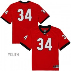 Herschel Walker Georgia Bulldogs #34 (No Name) NCAA Jersey - Red - Youth