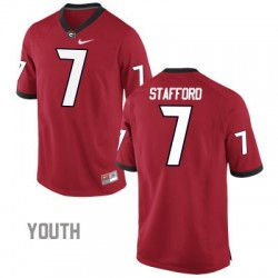 Matthew Stafford Georgia Bulldogs #7 NCAA Jersey - Red - Youth