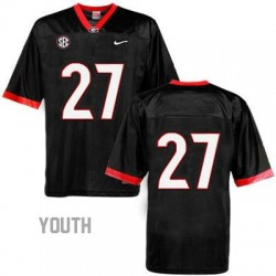 Nick Chubb Georgia Bulldogs #27 (No Name) NCAA Jersey - Black - Youth