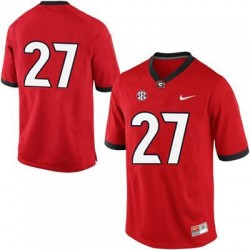 Nick Chubb Georgia Bulldogs #27 (No Name) NCAA Jersey - Red