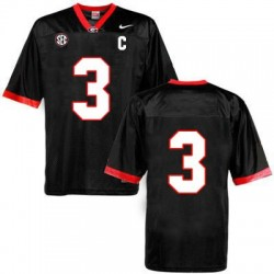 Todd Gurley Georgia Bulldogs #3 (No Name) NCAA Jersey - Black