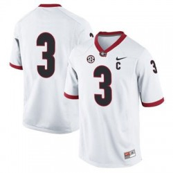 Todd Gurley Georgia Bulldogs #3 (No Name) NCAA Jersey - White