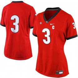 Todd Gurley Georgia Bulldogs #3 (No Name) Women's Jersey - Red