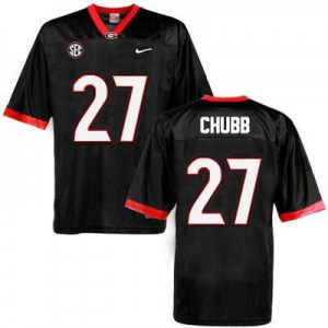 Nick Chubb Georgia Bulldogs #27 NCAA Jersey - Black