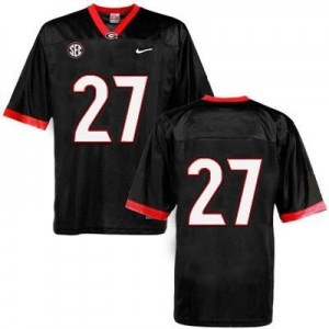 Nick Chubb Georgia Bulldogs #27 (No Name) NCAA Jersey - Black