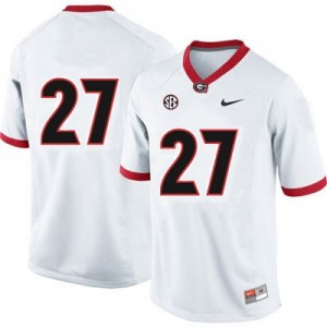 Nick Chubb Georgia Bulldogs #27 (No Name) NCAA Jersey - White