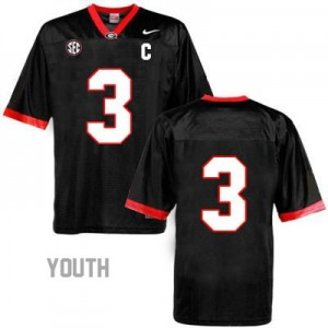 Todd Gurley Georgia Bulldogs #3 (No Name) NCAA Jersey - Black - Youth
