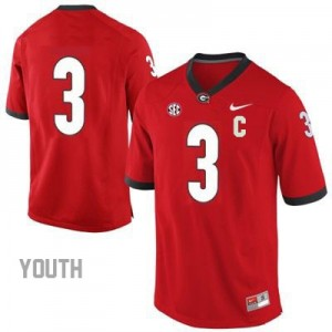 Todd Gurley Georgia Bulldogs #3 (No Name) NCAA Jersey - Red - Youth