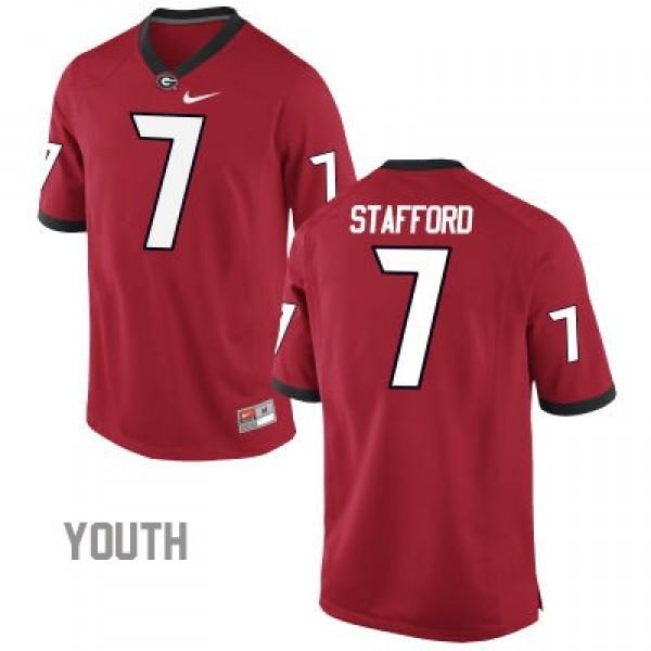 check out 9f6d9 8f3a1 Matthew Stafford Georgia Bulldogs #7 NCAA Jersey - Red - Youth