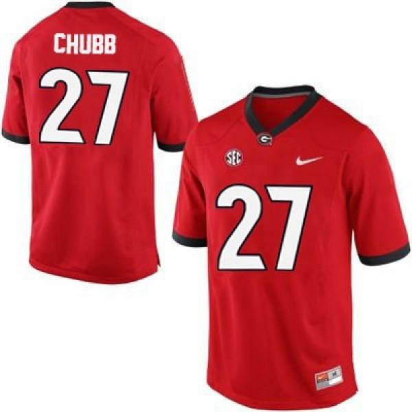 newest 8a096 2121b Nick Chubb Georgia Bulldogs #27 NCAA Jersey - Red